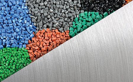 Resin pellets - metal texture