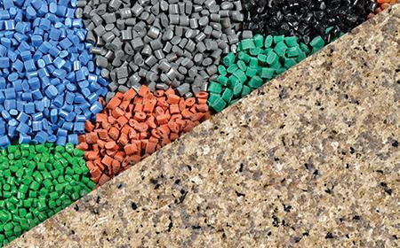 Resin pellets - stone texture