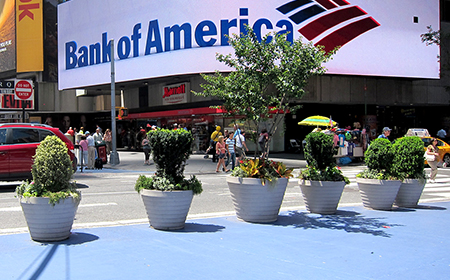 Time square planters