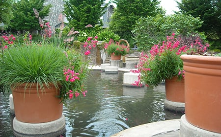2-resin-planters-in-pond