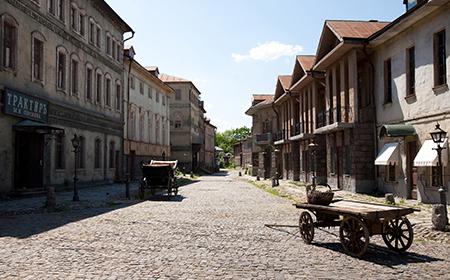 Western town set