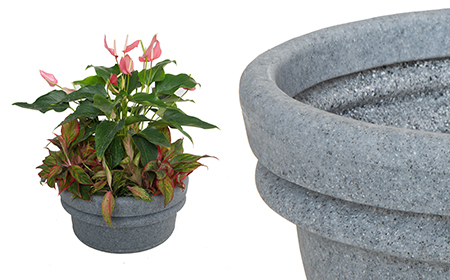 Bowl Vase: Ash Granite