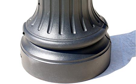 Resin light-pole base