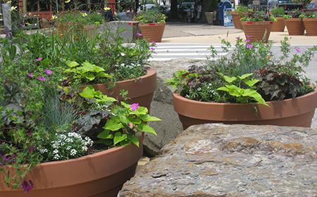 Philadelphia plaza planters