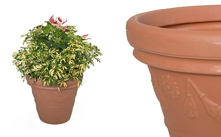 Garland Vase Planter: Terracotta