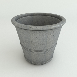 Barrel Vase-Ash Granite-Side