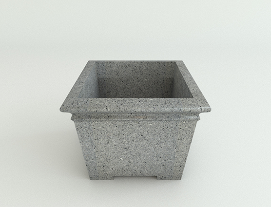 Square Footed-Ash Granite-Side