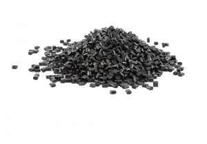 black plastic polymer granules for 100% recycled planters