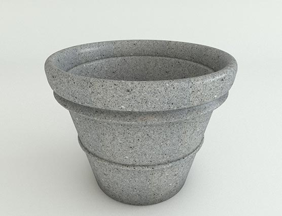 Vase-Planter-Ash-Granite-Side