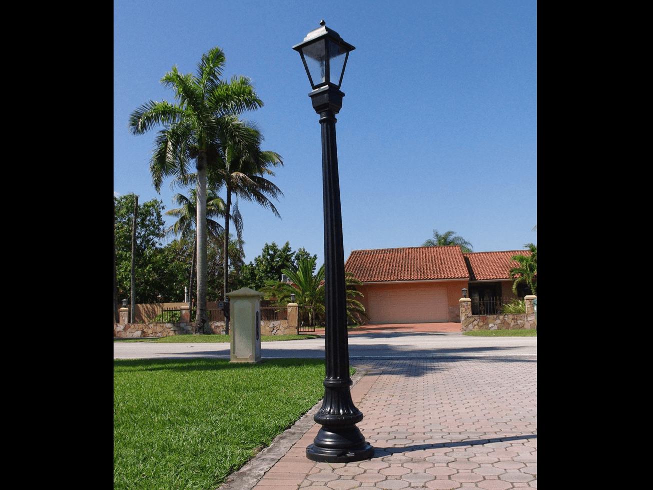 Residential outdoor light poles democraciaejustica washington style light pole residential installation aloadofball Choice Image