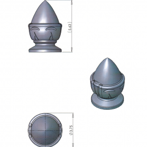 (BCF-15) Acorn Finial