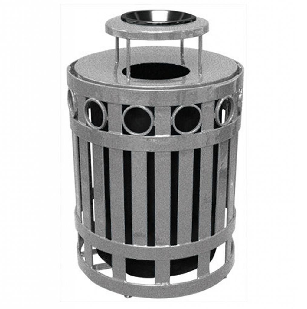 32 Gallon Ring Receptacle With Ash Bonnet Lid Terracast
