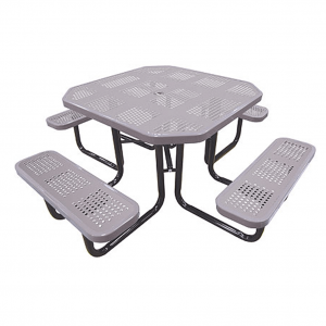 46 in Octagonal Perforated Table