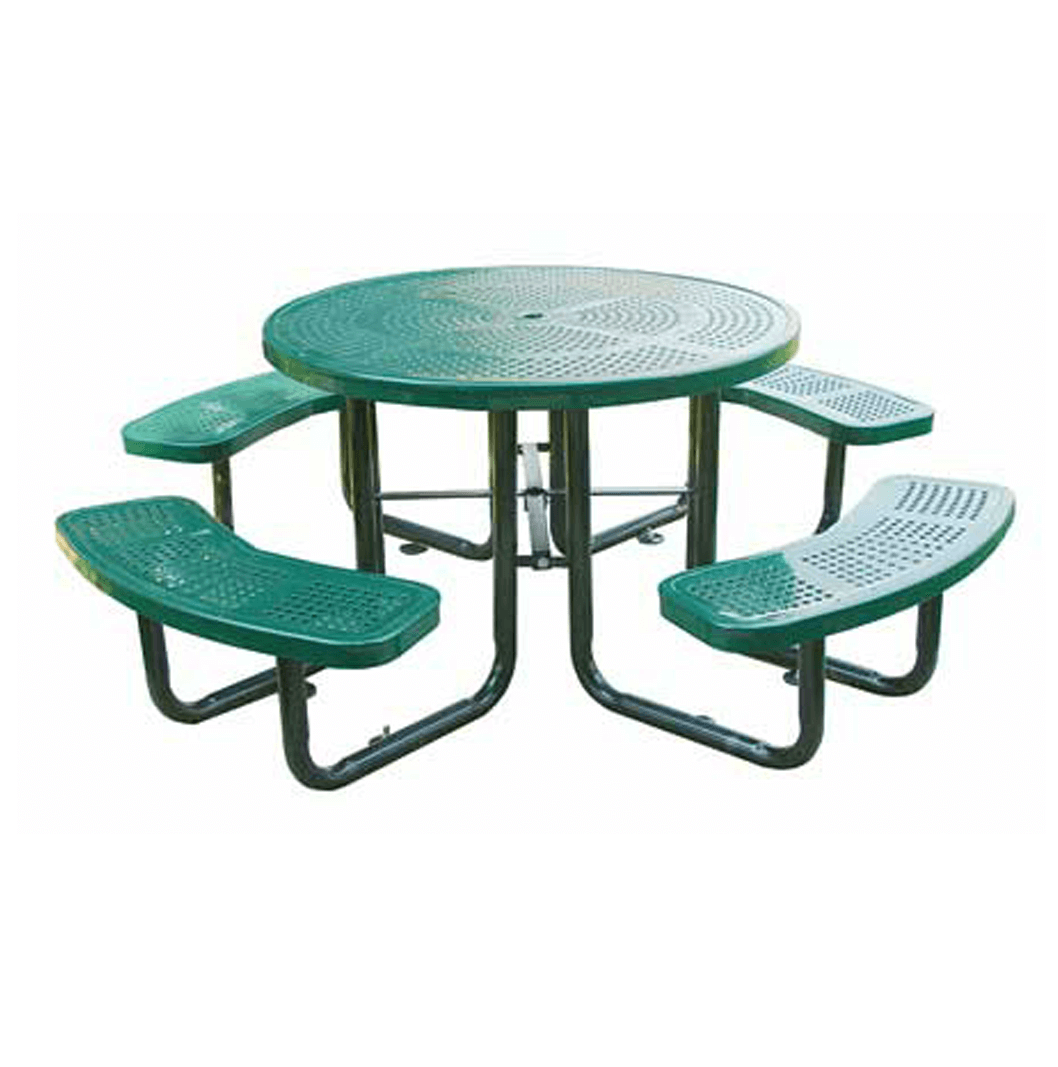46 in Round Perforated Table