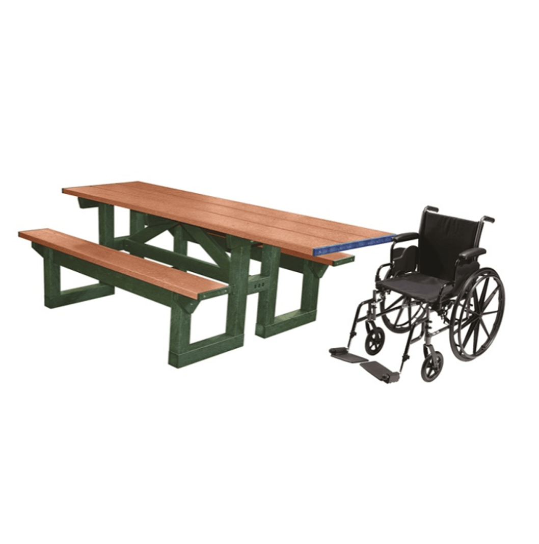 8 ft wheelchair access step through plastic picnic tablepng 2