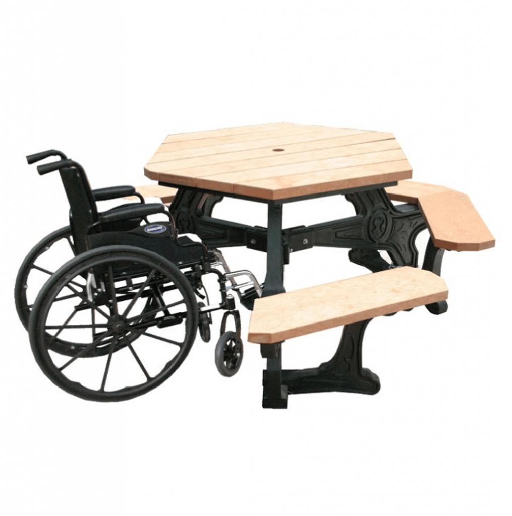 Greenscape Wheelchair Access Hexagon Picnic Table