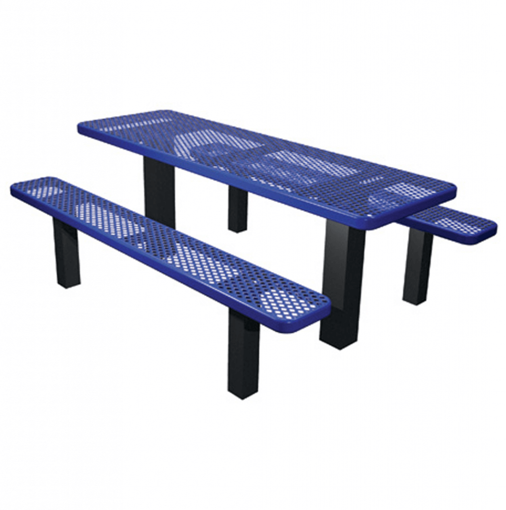 Outdoor school lunch table - Permanent Mount Picnic Table