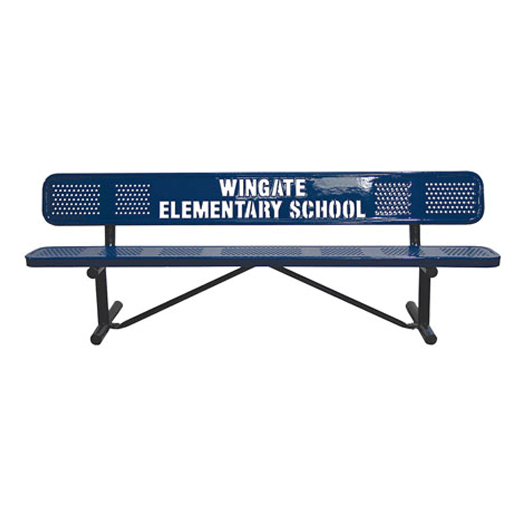 Personalized Perforated Standard Benches