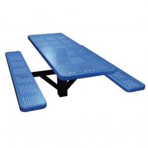 Single Post Perforated Picnic Table