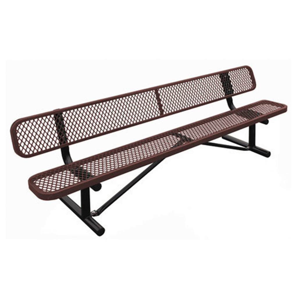 Standard Expanded Metal Bench With Back Terracast