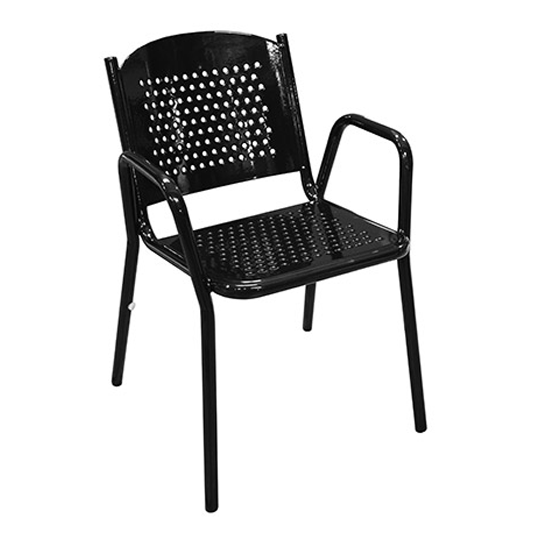 Stackable Perforated Chair