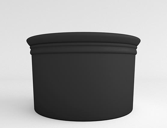 Straight Sided Cylinder-Black-Face