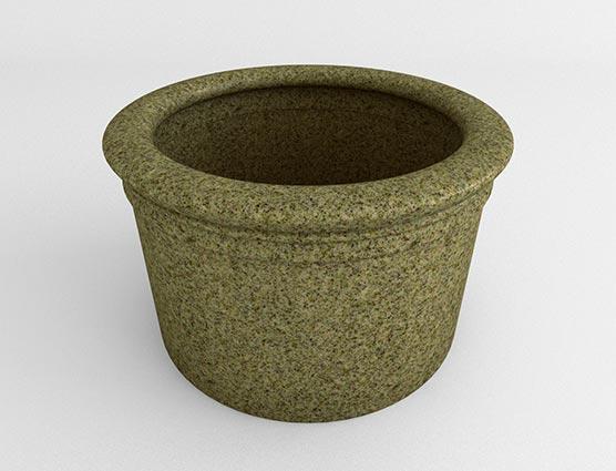 Straight Sided Cylinder-Sandstone Granite-Side