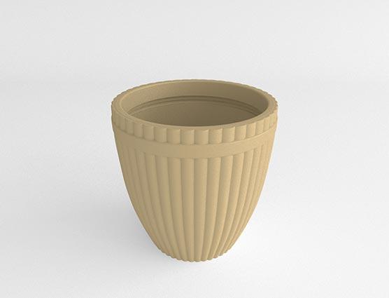 Fluted Vase-Victorian Lace-Side
