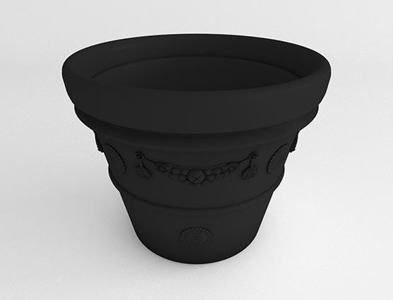 Garland-Vase-Planter-Black-Side
