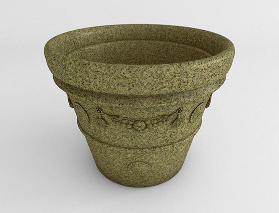 Garland-Vase-Planter-Sandstone Granite-Side