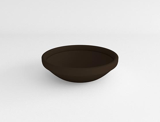 Low Bowl-Coco Brown-Side