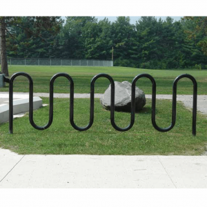 Black 11 bike wave rack