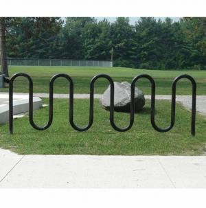 Black 11 bike wave rack