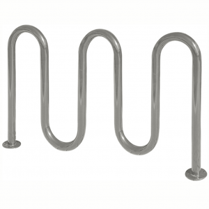 Galvanized 7 bike wave rack