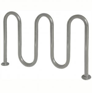 Galvanized 7 bike wave rack