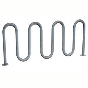 Galvanized 9 bike wave rack