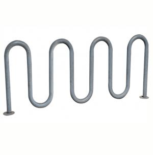 Galvanized 9 bike wave rack