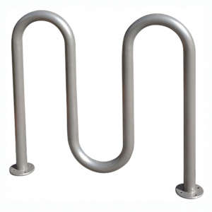 galvanized 5 bike wave rack