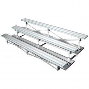 3 Row Galvanized Frame Aluminum Bleachers