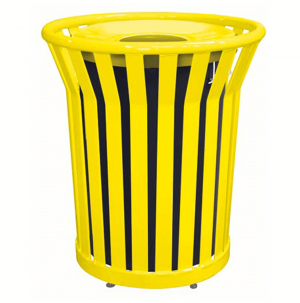 32 Gallon Receptacle with Spun Metal Lid