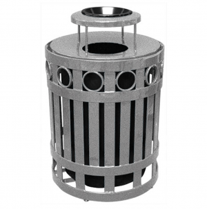 32 Gallon Ring Receptacle with Ash Bonnet Lid
