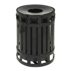 32 Gallon Ring Recpetcle with Spun Metal Lid