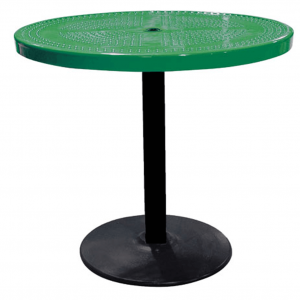 36 IN Perforated Pedestal Table