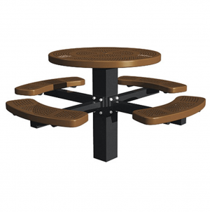 46 in Round Single Post Perforated Tables