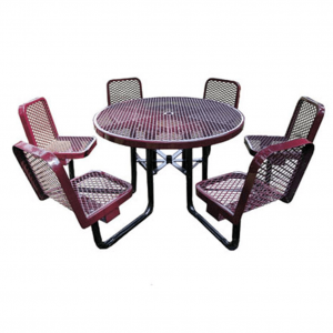 46 in Round Table with Chairs
