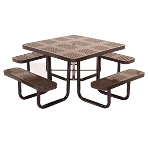46 in Square Perforated Table