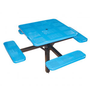 46 in Square Single Post Perforated Tables