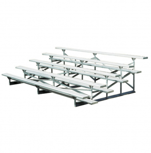 5 Row Galvanized Frame Bleachers Aluminum