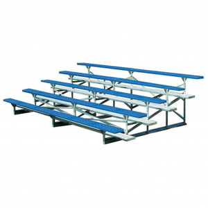 5 Row Galvanized Frame Bleachers Powder Coated