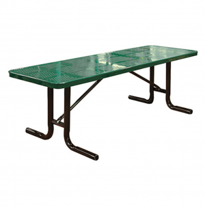 Free Standing Perforated Picnic Table